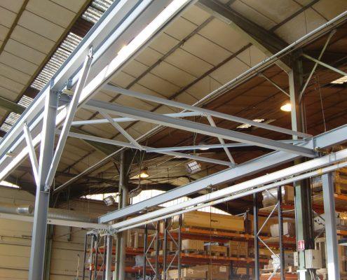Structure pour profilés creux aluminium