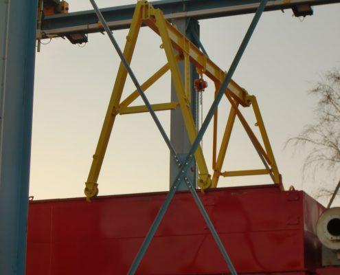 Portique pour plateforme pétrolière