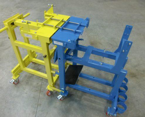 Chariot coupleur pour test d'équipement
