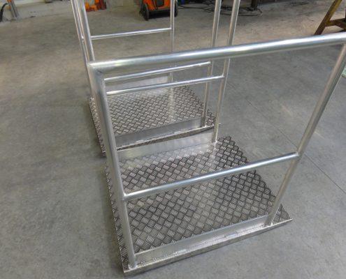 Passerelle d'accès aluminium