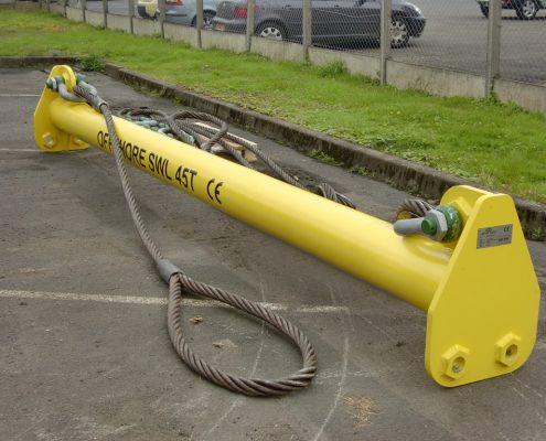 Palonnier écarteur 45T pour plateforme pétrolière
