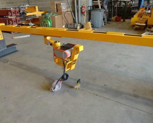 Potence de levage templier HPR sur monorail