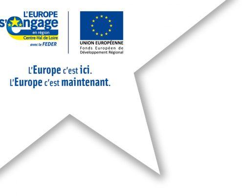 L'Europe s'engage en région Centre-Val de Loire avec le FEDER.