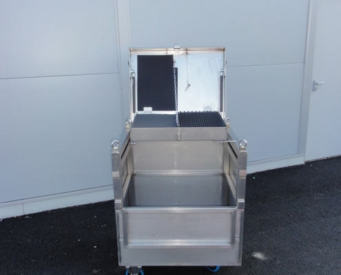 Caisse manutention inox