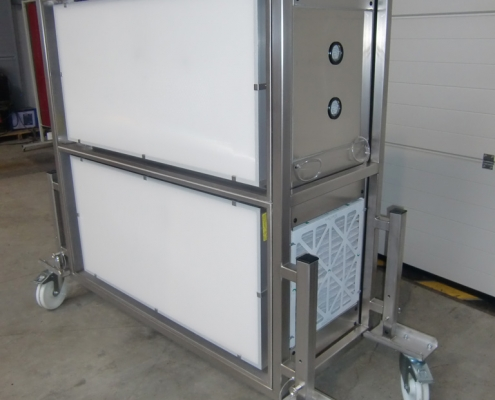 Caisson de filtration inox