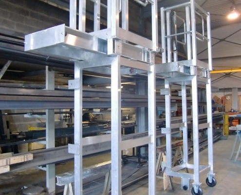 Plateforme mobile en aluminium